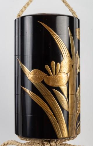 Antiquités - Black-Lacquer Five-Case Inro by Yoyusai (1772-1845)