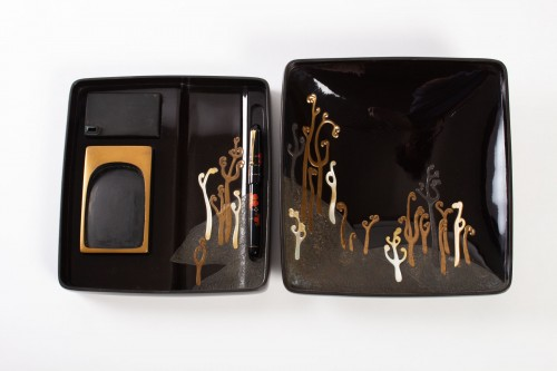 Japanese Lacquered Writing Box - Suzuri Bako -