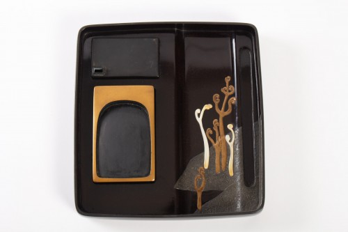 19th century - Japanese Lacquered Writing Box - Suzuri Bako