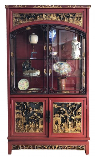 Large Lacquered Chinese Showcase