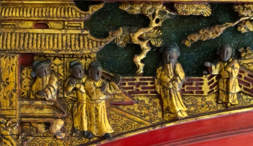 Asian Art & Antiques  - Large Lacquered Chinese Showcase