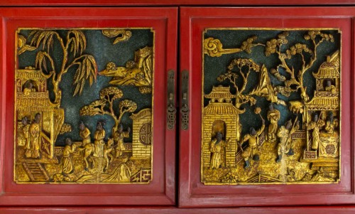 Large Lacquered Chinese Showcase -