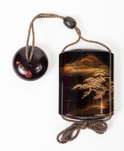 4-Case Gold Lacquered Inro - Kajikawa - Asian Art & Antiques Style