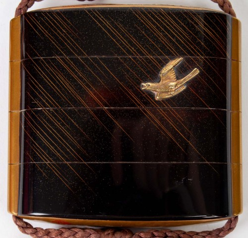 Asian Art & Antiques  - A 3-Case Lacquer Inro - Kajikawa and Goto Keijo (18th/19th)