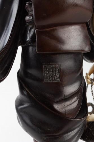 - A Bronze and Ivory figure of Shell Gatherer - Hidemitsu