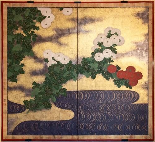 Japanese 2-Panel Screen - 19th Rimpa School