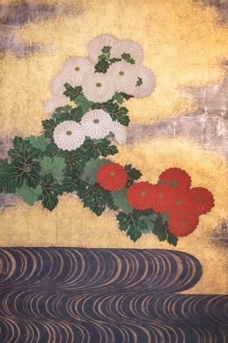 Asian Art & Antiques  - Japanese 2-Panel Screen - 19th Rimpa School