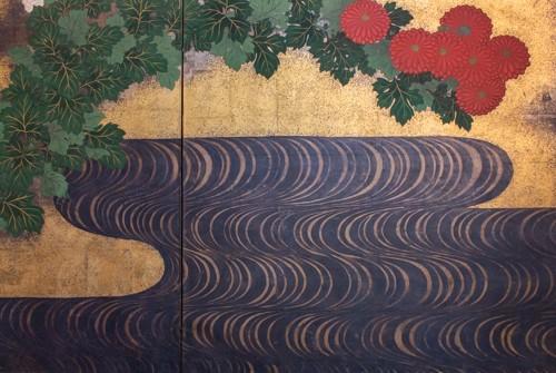 Japanese 2-Panel Screen - 19th Rimpa School -