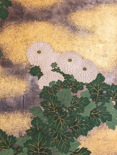 19th century - Japanese 2-Panel Screen - 19th Rimpa School