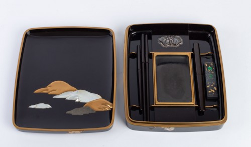 Japanese Lacquered Writing Box - Suzuri Bako Rimpa school -