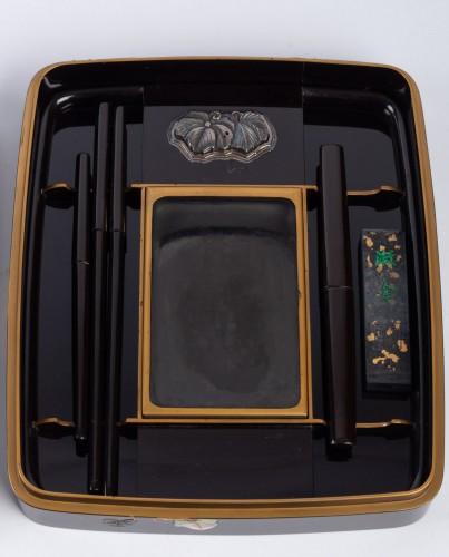 19th century - Japanese Lacquered Writing Box - Suzuri Bako Rimpa school