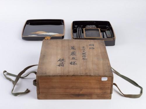 Antiquités - Japanese Lacquered Writing Box - Suzuri Bako Rimpa school