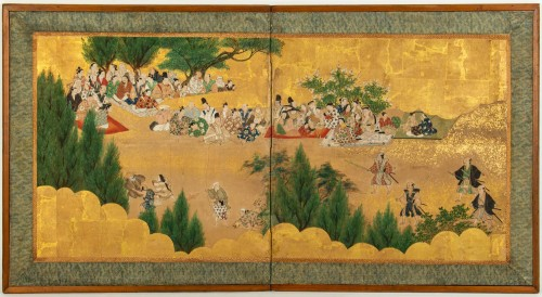 Small 2-Panel Japanese Screen 18/19th