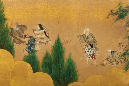 Small 2-Panel Japanese Screen 18/19th -
