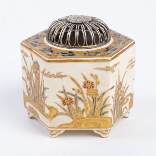 19th century - Charming Incense Burner in Satsuma earthware
