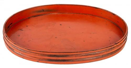 Rare Negoro Lacquer Tray 16th /17th Century