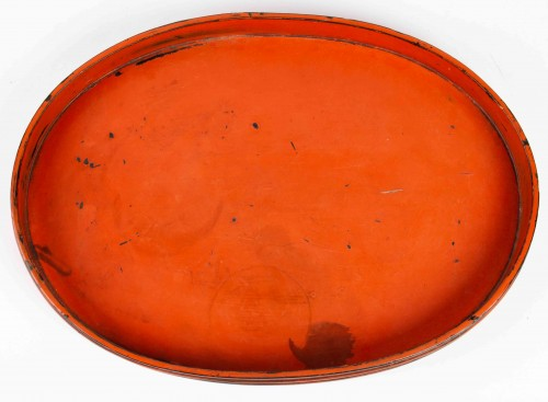 Asian Works of Art  - Rare Negoro Lacquer Tray 16th /17th Century