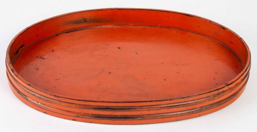 17th century - Rare Negoro Lacquer Tray 16th /17th Century