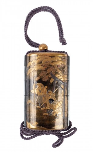 Four-Case Lacquer Inro by Jitokusai and Gyokuzan 18/19th Century