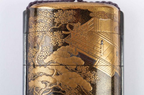 Four-Case Lacquer Inro by Jitokusai and Gyokuzan 18/19th Century - Asian Works of Art Style