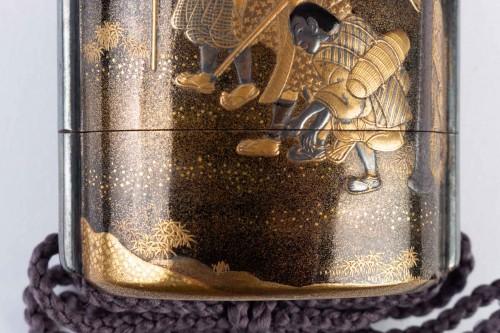 Four-Case Lacquer Inro by Jitokusai and Gyokuzan 18/19th Century -