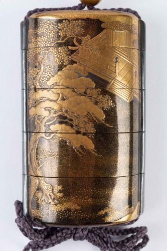 - Four-Case Lacquer Inro by Jitokusai and Gyokuzan 18/19th Century