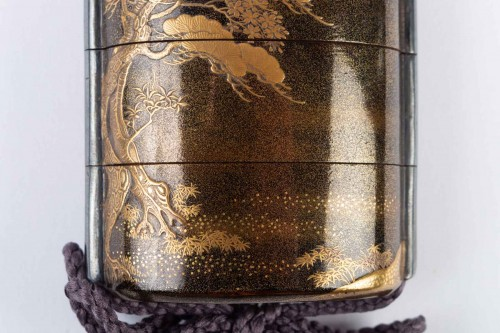 Antiquités - Four-Case Lacquer Inro by Jitokusai and Gyokuzan 18/19th Century