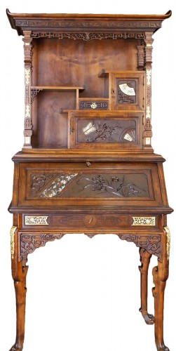 Drop-Leaf Secretary by Gabriel Viardot (1830-1906