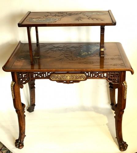 Tea table -  Gabriel Viardot (1830-1906) - Furniture Style Art nouveau
