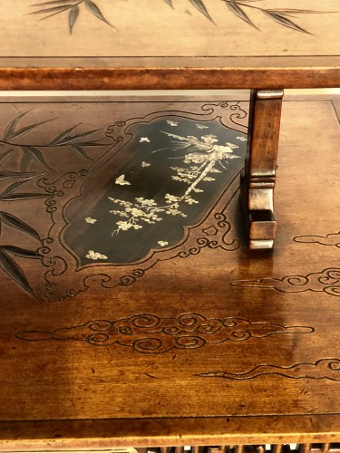 19th century - Tea table -  Gabriel Viardot (1830-1906)