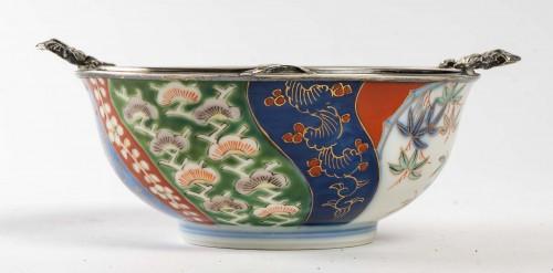 -  Japanese Porcelain Bowl - Fukagawa Kilns
