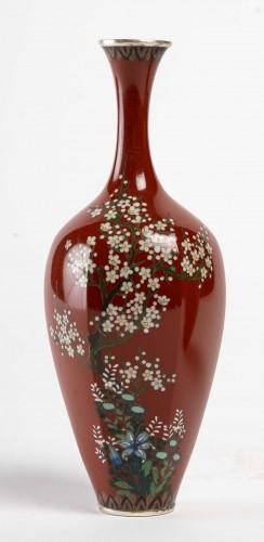 Japanese Pair of Cloisonne Vases -