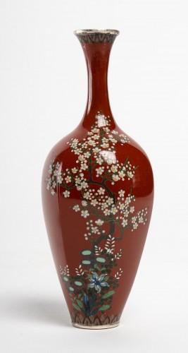 19th century - Japanese Pair of Cloisonne Vases