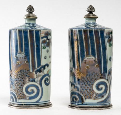 Antiquités - Pair of Tokkuri (sake flask)