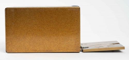 Antiquités - Ko-dansu (petit cabinet) en laque or