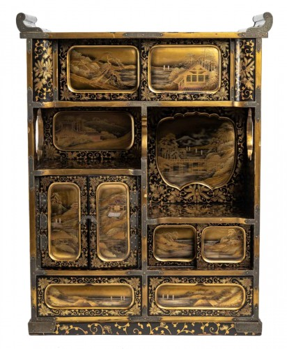 Japanese Gold and Silver Lacquer Cabinet