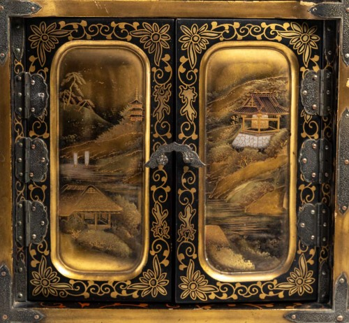 Japanese Gold and Silver Lacquer Cabinet - Asian Works of Art Style