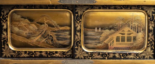 Japanese Gold and Silver Lacquer Cabinet -
