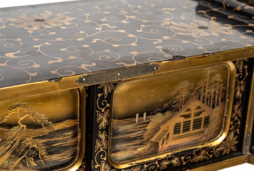 - Japanese Gold and Silver Lacquer Cabinet