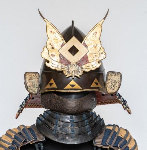 Asian Works of Art  - Roku-Do-Gussoku Japanese Armour Signed Munetaka Myochi 18th century
