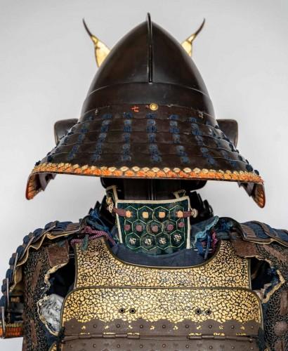 18th century - Roku-Do-Gussoku Japanese Armour Signed Munetaka Myochi 18th century