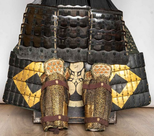 Antiquités - Roku-Do-Gussoku Japanese Armour Signed Munetaka Myochi 18th century