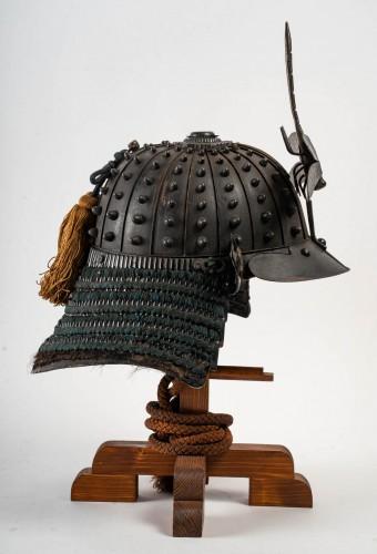 Japanese Samouraï Iron Helmet Hoshi Bachi Style 18th Century -