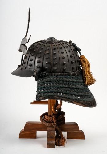18th century - Japanese Samouraï Iron Helmet Hoshi Bachi Style 18th Century