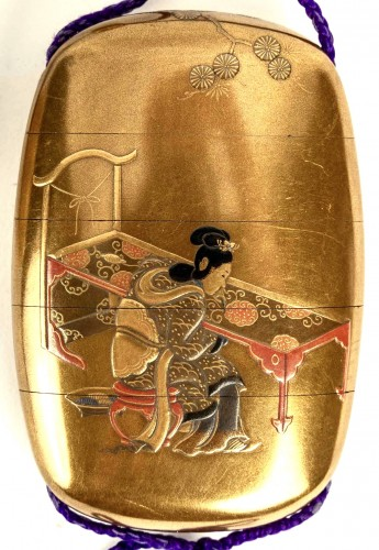 4-Case Inro of a Samouraï and Child - Asian Works of Art Style
