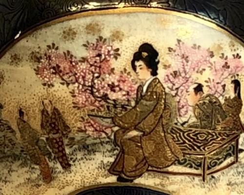 Bell Shaped Satsuma by Kinkozan - Asian Works of Art Style