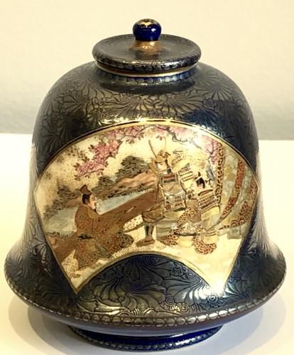 Asian Works of Art  - Bell Shaped Satsuma by Kinkozan