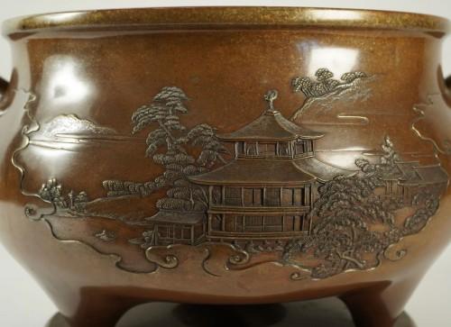 Important Japanese Bronze Brazier par Kanaya Gorosaburo - Asian Works of Art Style