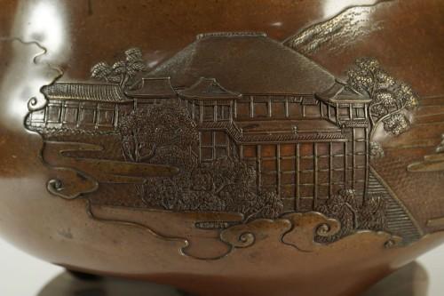 Important Japanese Bronze Brazier par Kanaya Gorosaburo -