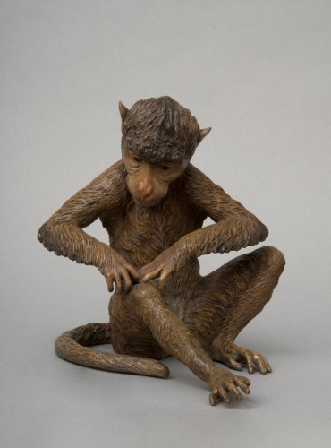 Napoléon III - Large Cold Painted Vienna Bronze Monkey